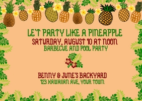 Party with Pineapple Banner