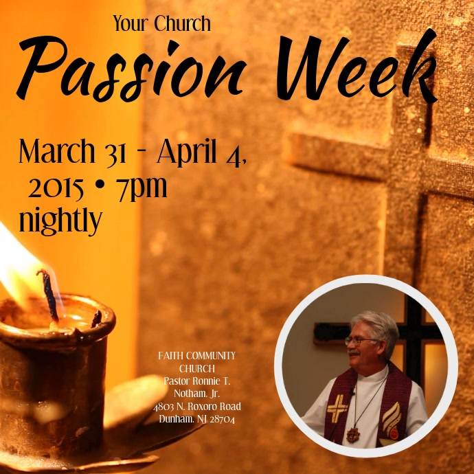 Passion Week Instagram