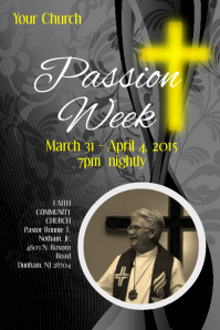 Passion Week Poster