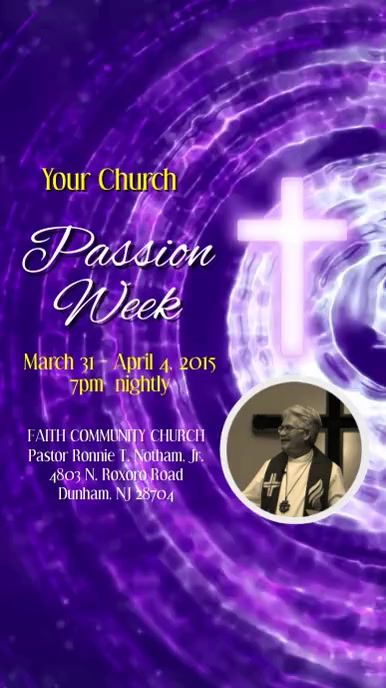 Passion Week Video Template