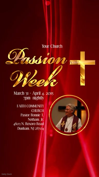Passion Week Video