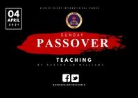 Passover Postcard template