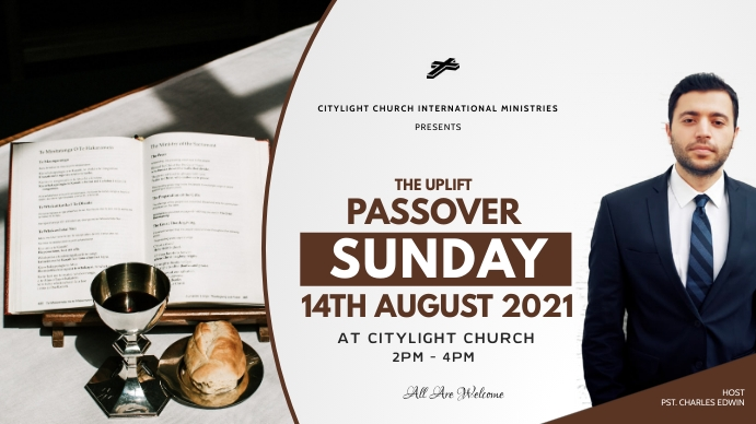 PASSOVER SUNDAY flyer Digitale display (16:9) template