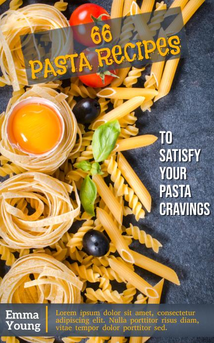 Pasta, Recipe Book Обложка Kindle template