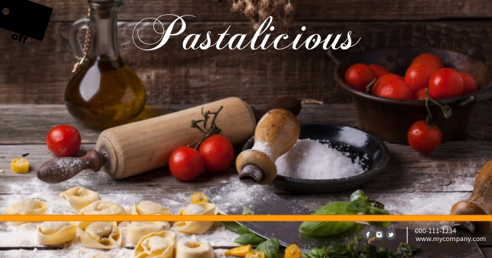 Pasta Facebook Post Template