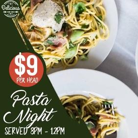 Pasta Instagram Restaurant Post Template