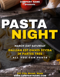 Pasta Night flyer
