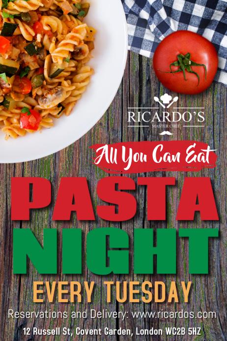 Pasta Night Flyer Template