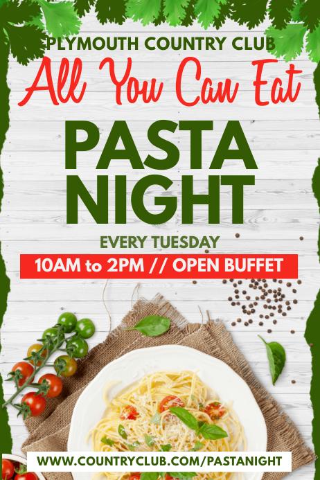 Pasta Night Poster Template