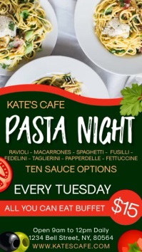 Pasta Night Restaurant Digital Template