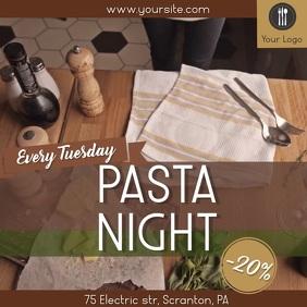 Pasta night restaurant video ad