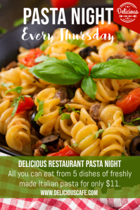 Pasta Night Special Flyer Template Poster