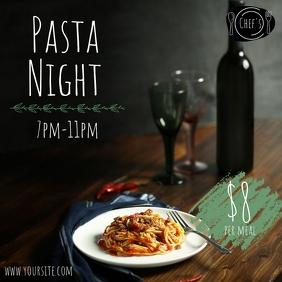 Pasta Night Special Restaurant Ad Instagram Post template
