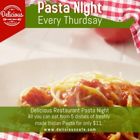 Pasta Night Special Video Template