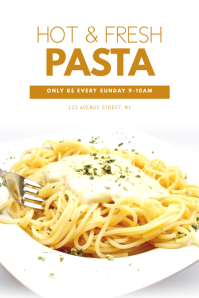 pasta Offer Flyer Design Template