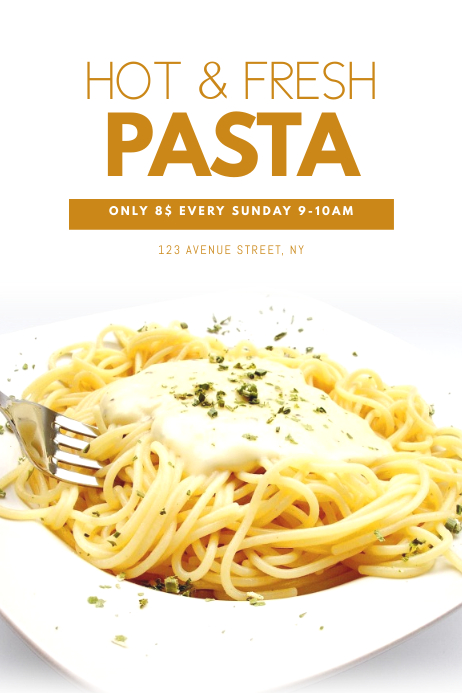 Capellini Design Consulting.Pasta Offer Flyer Design Template Postermywall