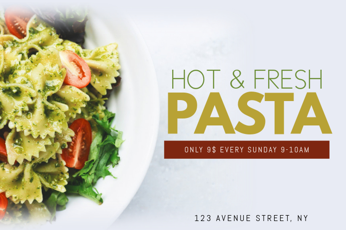 Pasta Flyer Template