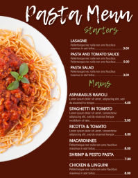 Pasta Restaurant Menu Template