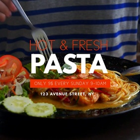 pasta restaurant video advertising template