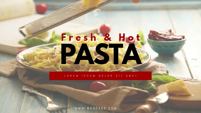 Pasta Restaurant video template facebook cover