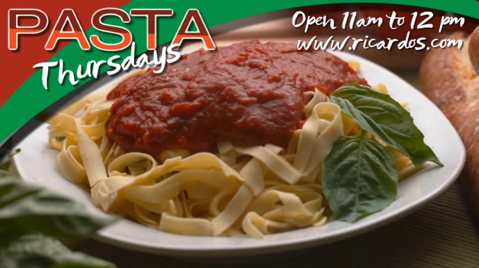 Pasta Restaurant Video Template