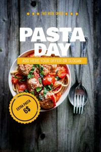 Pasta sale flyer template