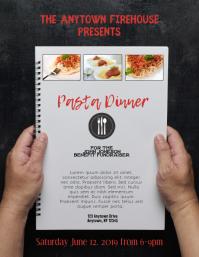 Pasta Spaghetti Dinner Flyer Folder (US Letter) template