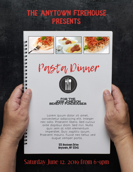 Pasta Spaghetti Dinner Flyer Template Postermywall
