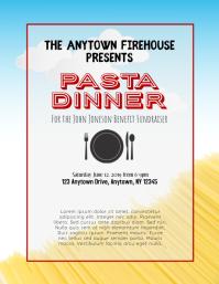 Pasta Spaghetti Dinner Fundraiser Flyer