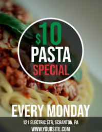 Pasta special deal template Flyer (US Letter)