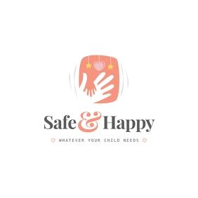 Pastel Babysitting Logo Logotipo template