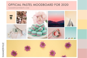 Pastel Color Moodboard Poster Template
