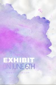Pastel Colorful Paint Simple Modern Event Club Venue Art