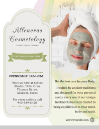 Pastel Cosmetology Flyer Pamflet (Letter AS) template