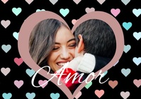 Pastel Couples Valentine's Day Photo Video A4 template