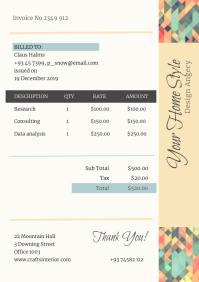 Pastel Design Agency Invoice