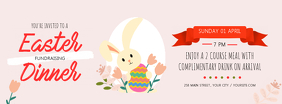 Pastel Easter Fundraising Dinner Facebook Cover Photo