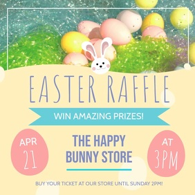 Pastel Easter Raffle Square Video Instagram Post template