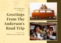 Pastel Family Collage Postcard