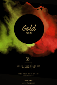 Pastel Gold Event Flyer template