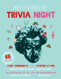 Pastel Green Trivia Night Flyer