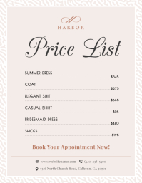Pastel Price List Flyer Template