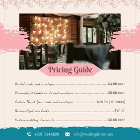 Pastel Price List Square Video template