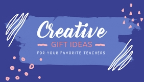 Pastel Themed Creative Gift Ideas Blog Header