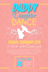 Pastel themed Daddy Daughter Dance Poster