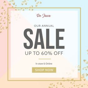 Pastel Themed Generic Sale Instagram Image