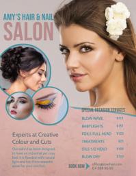 Pastel Themed Hair Salon Price List Flyer