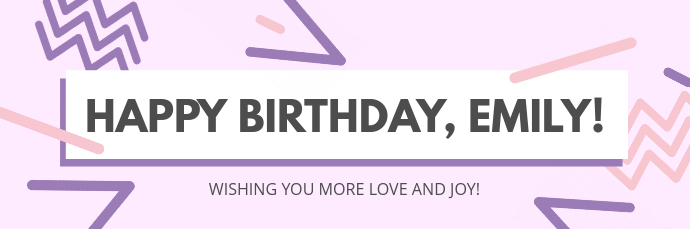 Pastel Themed Happy Birthday Email Header