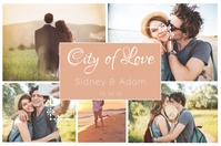 Pastel Valentine Couple Collage Landscape Affiche template
