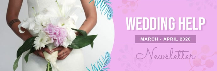 Pastel Wedding Themed Video Email Header